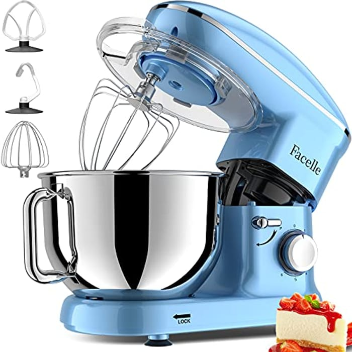 DEAL STACK - Facelle 1500W 6-Speed Tilt-Head Electric Stand Mixer + £10 Coupon