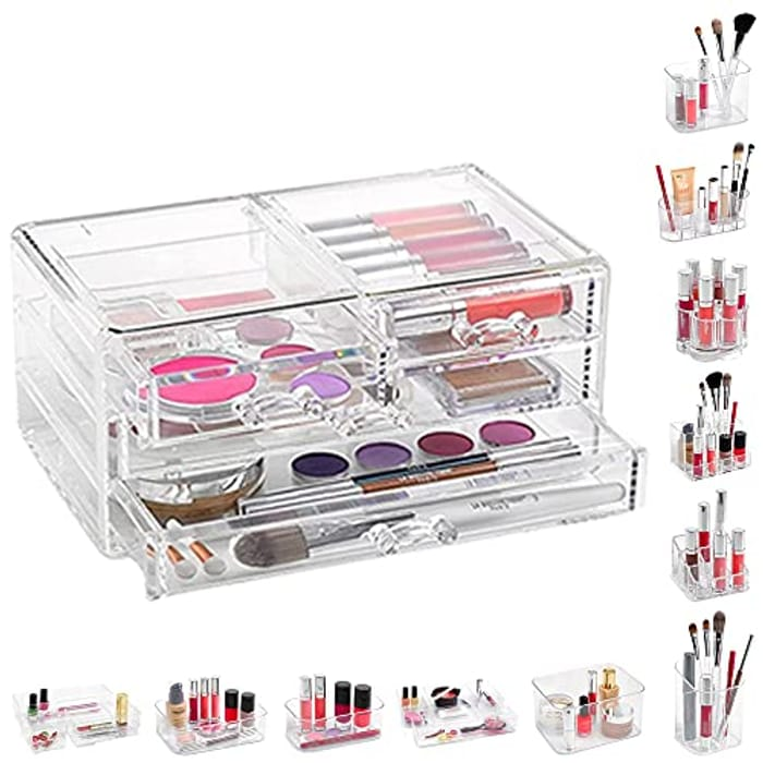 PLASTIFIC Acrylic Cosmetic Organiser (Various Options)