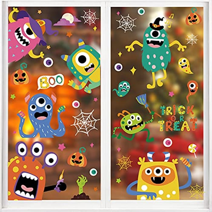 VEYLIN 88pcs Halloween Window Cling Stickers