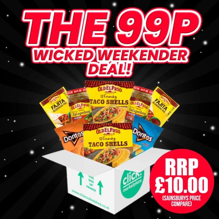 The 99p Weekender Bargain Box - Save £9.01