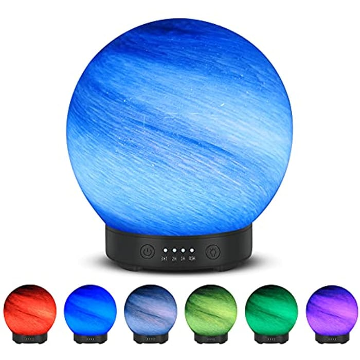 Untimaty 3 In 1 LED Glass Ball Essential Oil Diffuser - 120ml