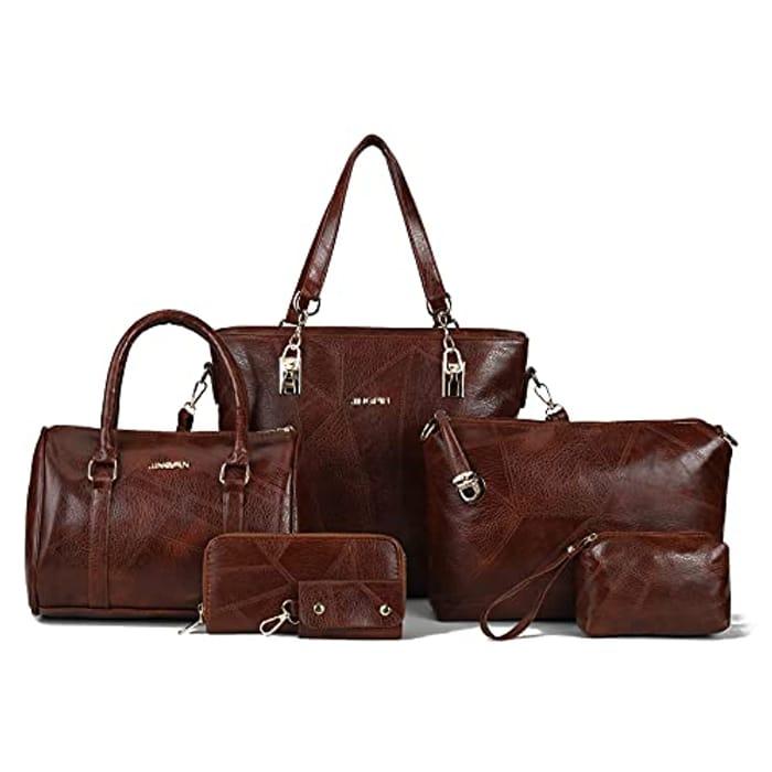 6 Piece Vintage Handbag Set ( Various Colours Available)