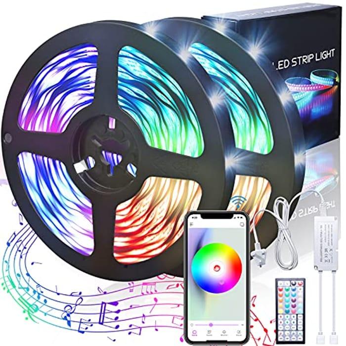 20m LED Strip Lights with Music Sync + 44 Key Remote