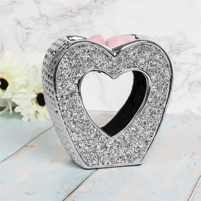 Silver Sparkle Heart Wax Melt/Oil Burner