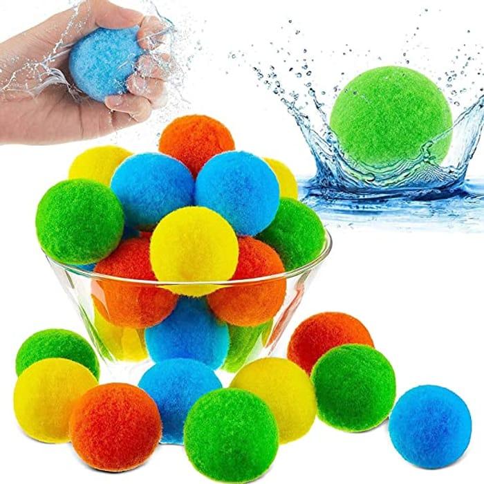 10pcs Cotton Splash Water Balls
