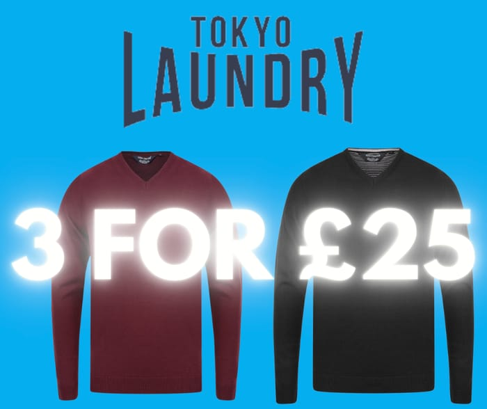 Get 3 Jumpers for £24.99 at Tokyo Laundry