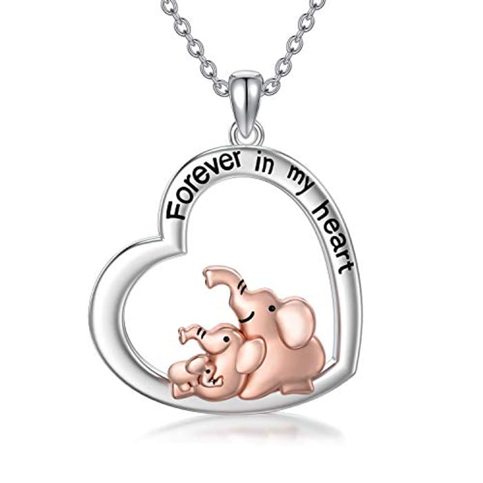 Mothers Day Gift for Mum Elephant Pendant Necklace - Only £2.99!