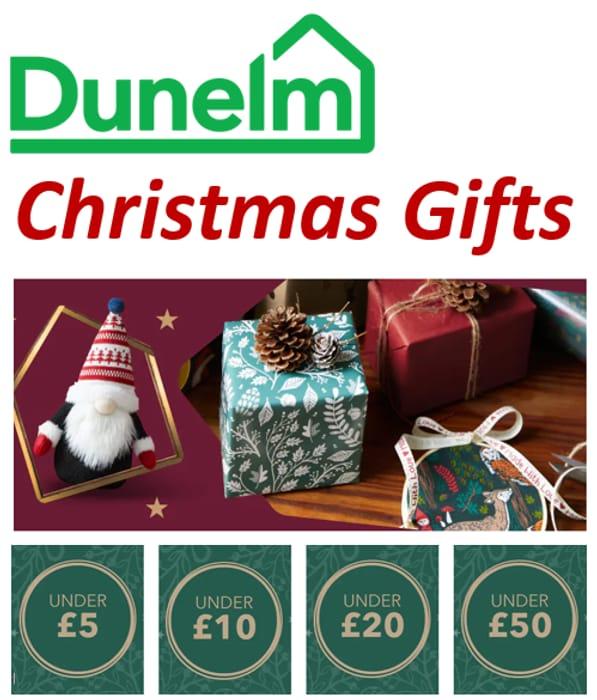 Dunelm Christmas Gifting / Christmas Gifts by Price