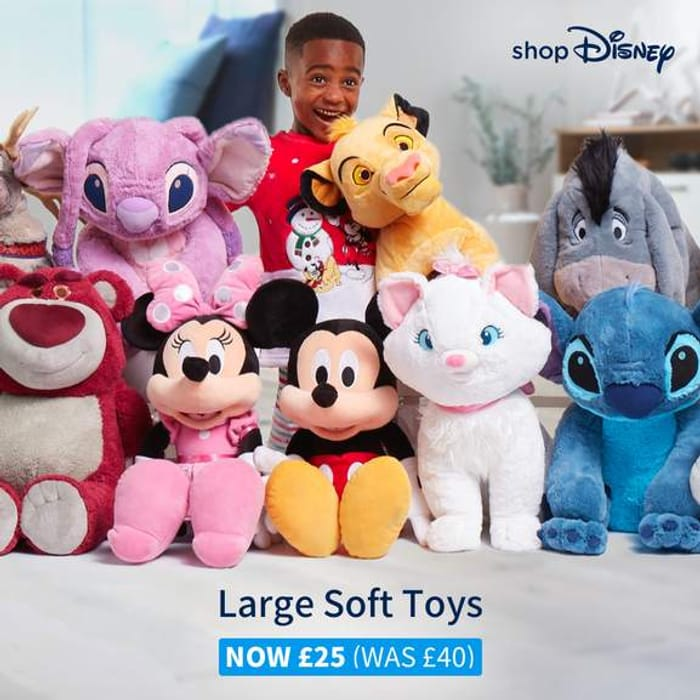 shopDisney - Large Soft Toys Were £40 Now £25 + Free Delivery On ALL Orders!
