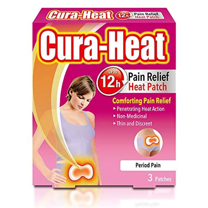 Cura-Heat Period Pain, 3 Patches - Only £1.99!