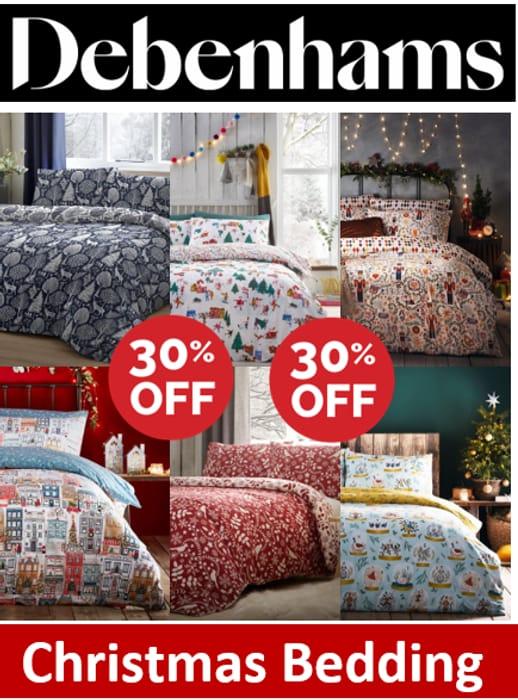 Debenhams CHRISTMAS BEDDING - 30% OFF
