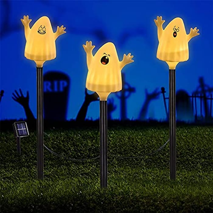 DEAL STACK - Halloween Decorations Solar Stake Pathway Lights + 20% Coupon