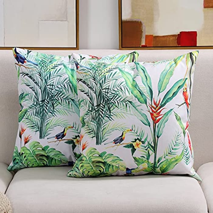 Pack of 2 Waterproof Cushion Covers (Various Options Available) - 45x45cm