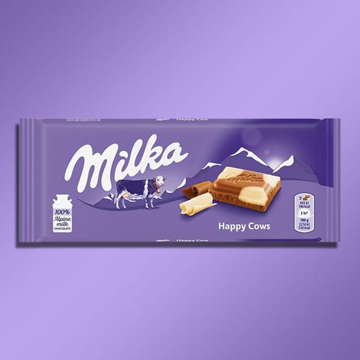 23 X Milka Happy Cows 100g Milk Chocolate Bars