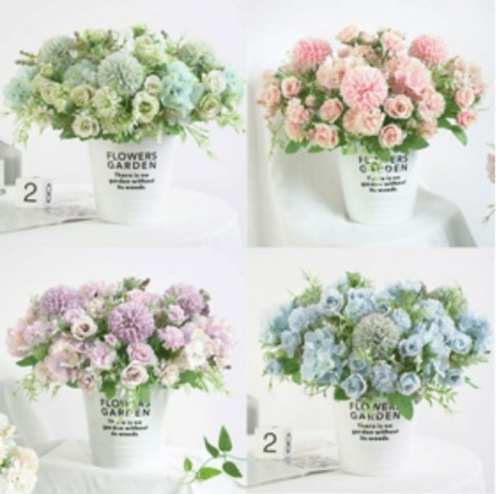 1 Bunch Artificial Silk Flowers (Various Options)