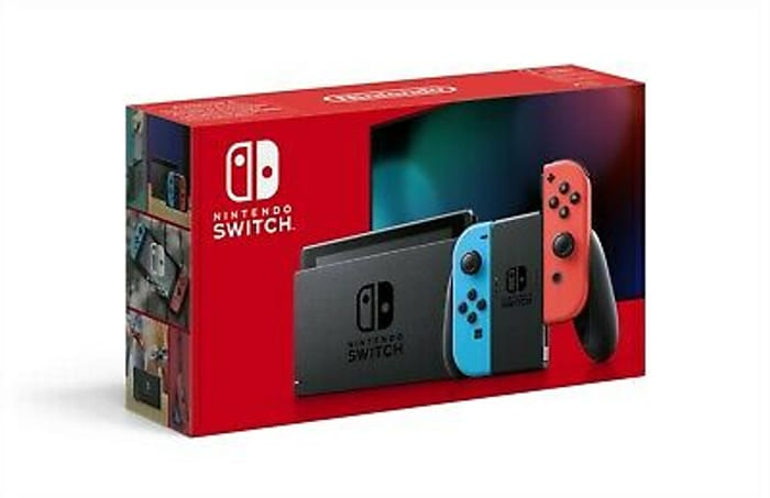 Nintendo Switch Neon Extended Battery Console - £233.48 Delivered With Code