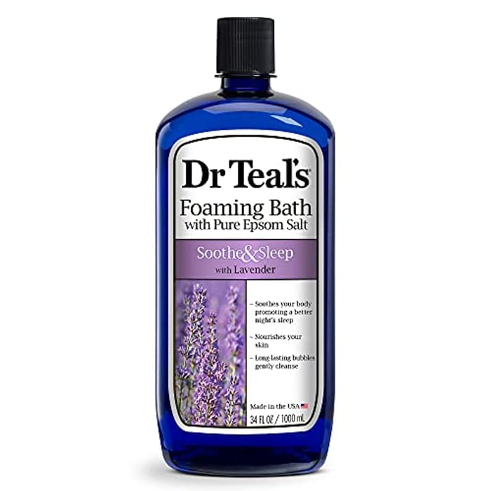 Dr Teal's Pure Epsom Salt Foaming Bath to Soothe and Sleep with Lavender