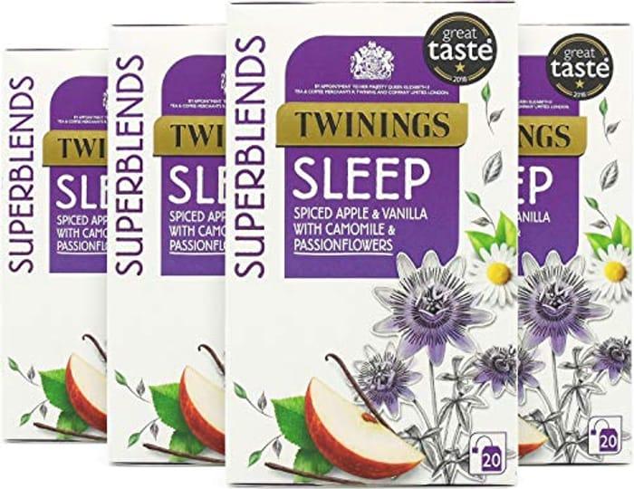 Twinnings Superblends Tea 20 X 4 Packs Sleep/ Digest/ Glow/ Tumeric Etc