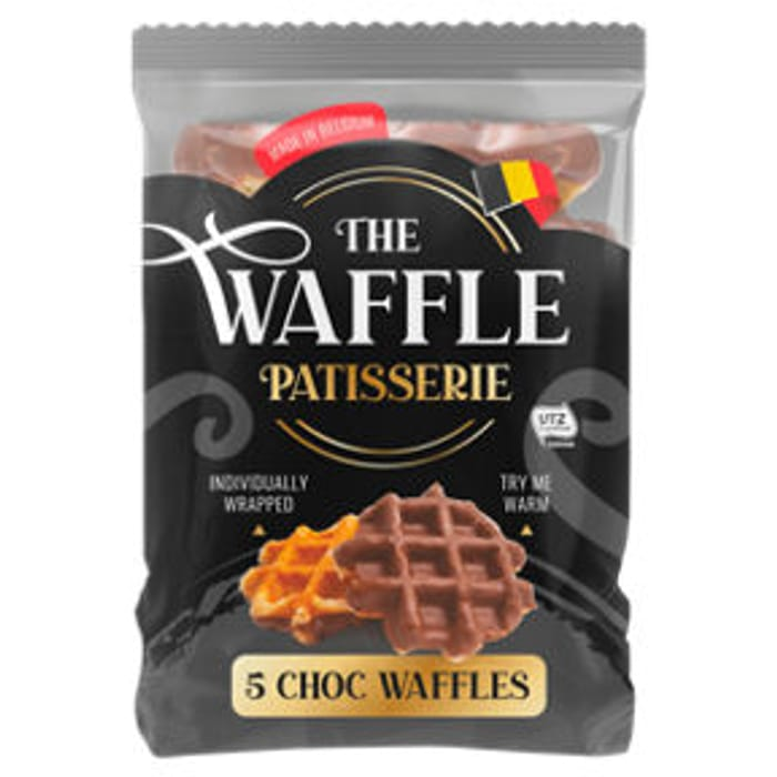 The Waffle Patisserie 5 Chocolate Waffles  5pk