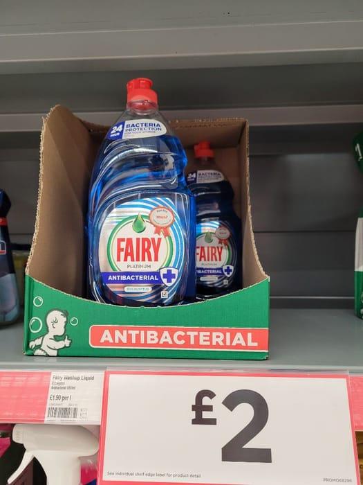 Fairy Antibacterial Washing up Liquid Eucalyptus  1.05l