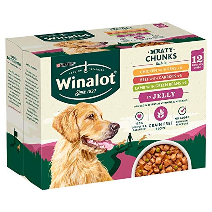 Quick !! 12 Pack of Winalot Dog Pouches