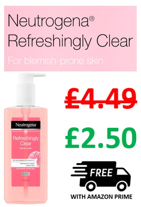 44% off - Neutrogena Refreshingly Clear Facial Wash / Pink Grapefruit 200ml