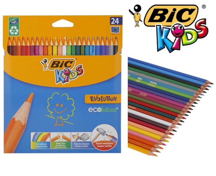 24 BIC Kids Colouring Pencils