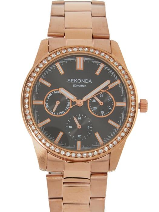 SEKONDA Rose Gold Tone Watch