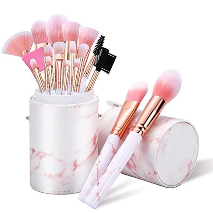 16PCS Makeup Brushes Set with Makeup Brush Holder and Silicone Mask Brush
