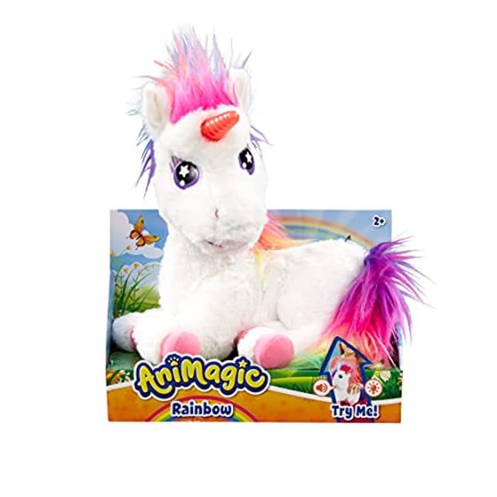 Animagic Rainbow a Soft Unicorn Plush Toy - My Glowing Unicorn - Only £14.99!