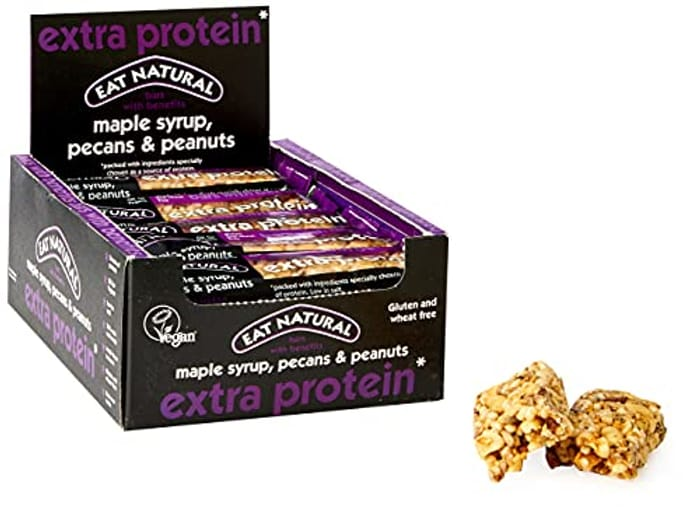 Eat Natural Extra Protein Cereal Bars Maple Syrup Pecans & Peanuts 45g X 12 Pack