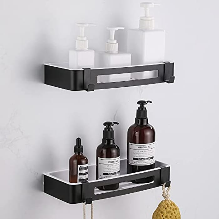 DUFU 2 Pack Rectangular Shower Shelves