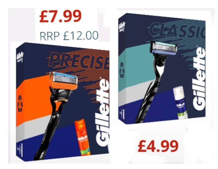 Gillette Gift Set Mach3 Razor and 5Razer+ Shaving Foam from £4.99 /£7.99