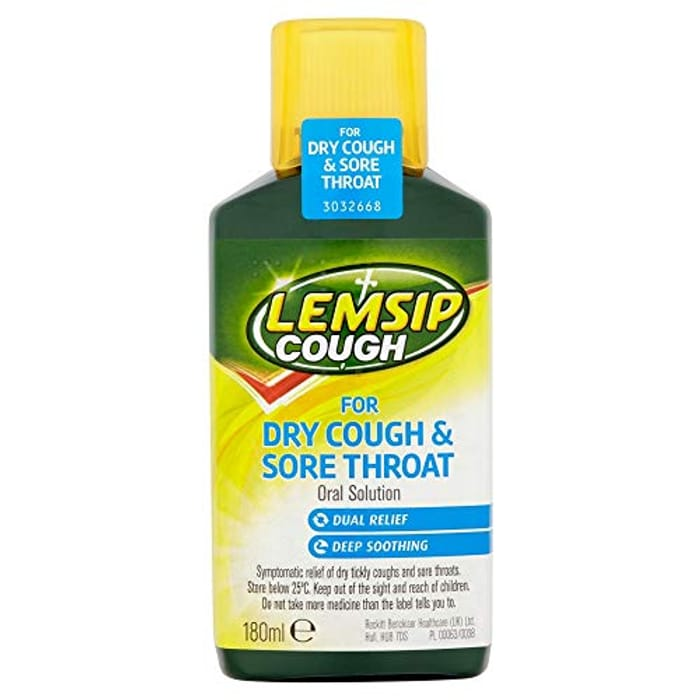 Lemsip Dry Cough and Sore Throat Oral Solution