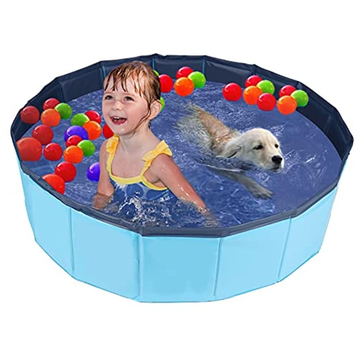 HALOVIE Foldable Dog Paddling Pool