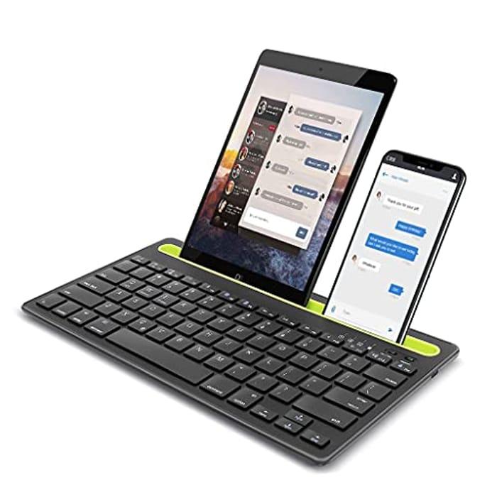 Hatieo Multi-Device Rechargeable Wireless Bluetooth Keyboard
