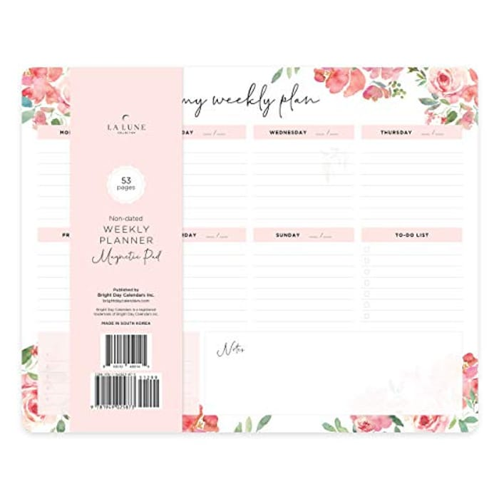 DEAL STACK - Non-Dated Weekly Magnetic Desk Calendar Pad + £4 Coupon