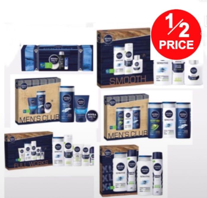 Nivea Men: Protect Cracker Gift Set/XL Sensitive Duo Gift,7 Set from £3.99,£9.99