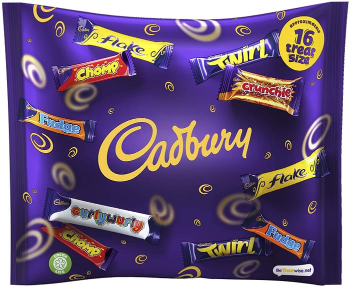 Cadbury Treat Size Milk Chocolate Variety 222G