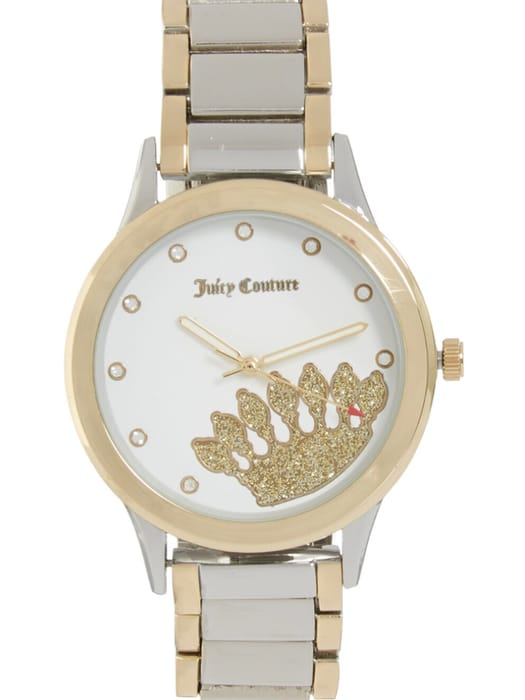 JUICY COUTURE Gold Tone Crown Watch