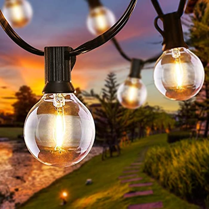 Garden Patio outside Globe String Lights 6.8 Meters / 22 Feet with 16Pcs Bulbs