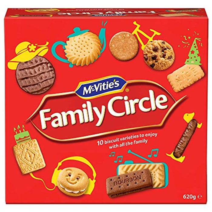 McVitie's Family Circle Biscuits Assortment Selection, Chocolate,
