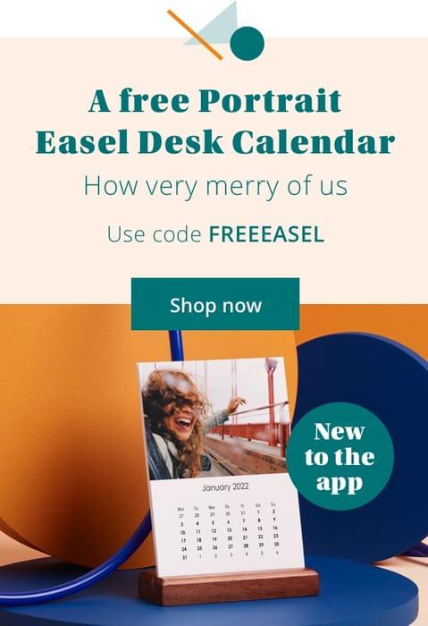 FREE Easel Desk Calendar Code FREEEASEL
