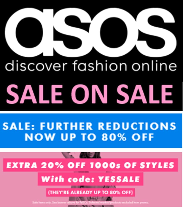 ASOS - SALE ON SALE ! up to 80% OFF ALREADY + EXTRA 20% OFF CODE