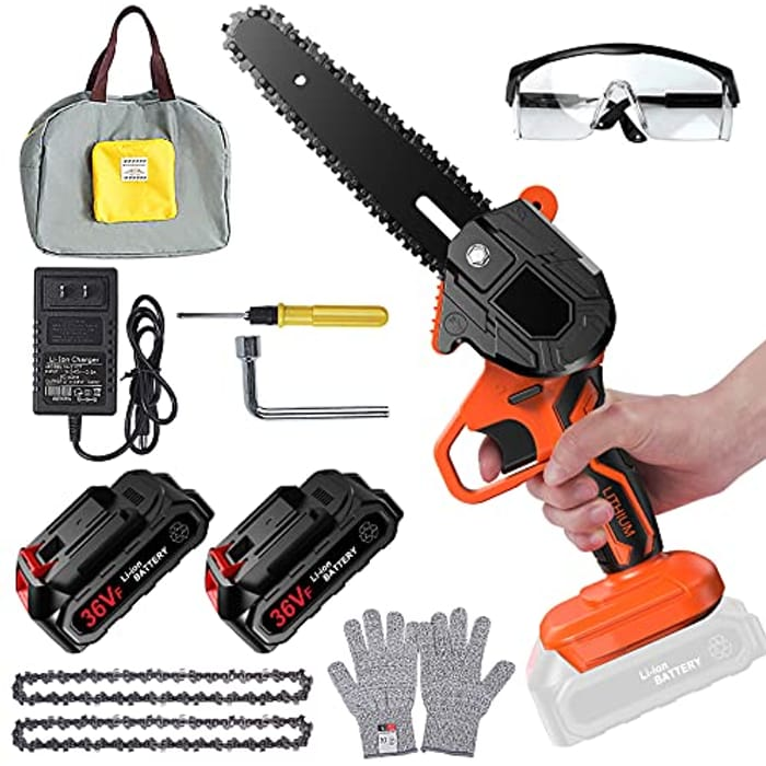 DEAL STACK - Flanagan Electric Mini Cordless Chainsaw + £5 Coupon