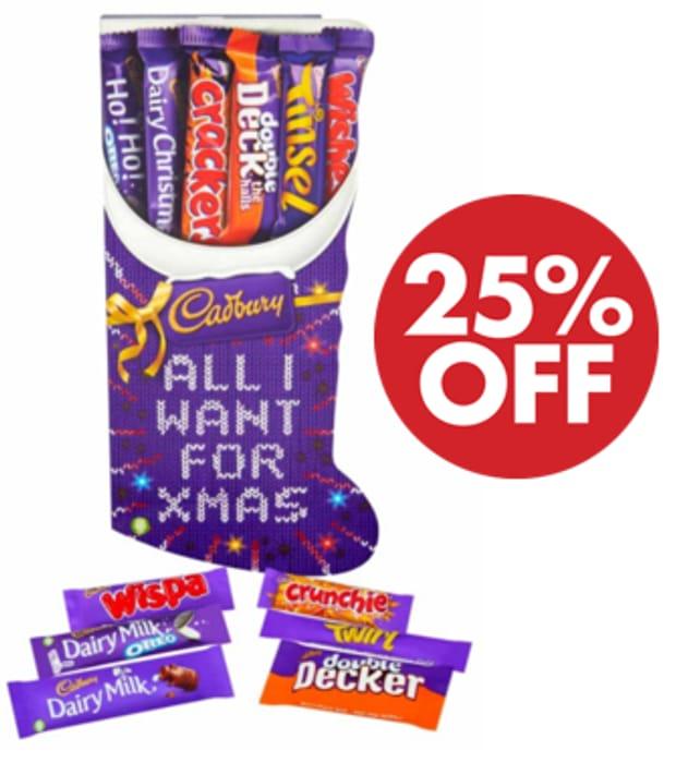 Cadbury Large Stocking Chocolate Selection Box, 179 G