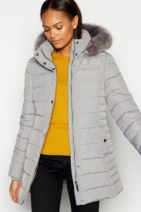 Principles Textured Hooded Padded Coat