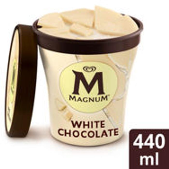 Magnum White Ice-Cream Tub 440ml