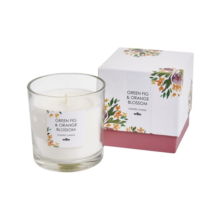 Best Price! Green Fig and Orange Blossom Boxed Glass Candle