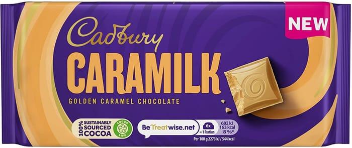 Cadbury Caramilk Golden Caramel Chocolate Bar 90g